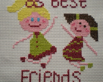 Best Friends Cross Stitch Kit. Girls cross stitch kit