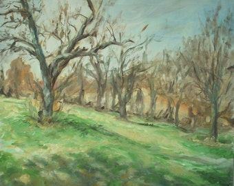Original Landscape Oil Painting-Circleville Park