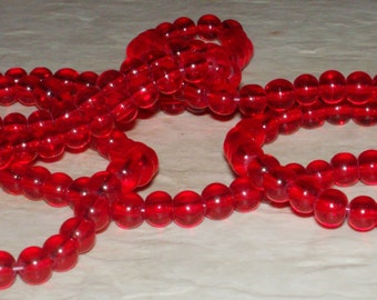 Red Clear Beads - 6MM