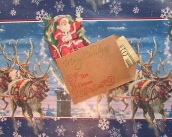 Christmas Money Holder, Christmas Gift Card Holder,Holiday Money Holder,Holiday Gift Card Holder,Handmade Gift Card Holder,Xmas Money Holder