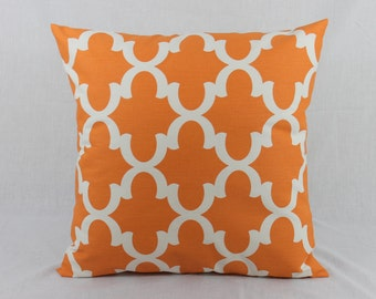 Orange Couch Pillow - Cushion Covers - Orange Decorative Sofa Pillows Covers