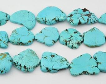 "16""   Turquoise  Slab   Nugget   Beads"