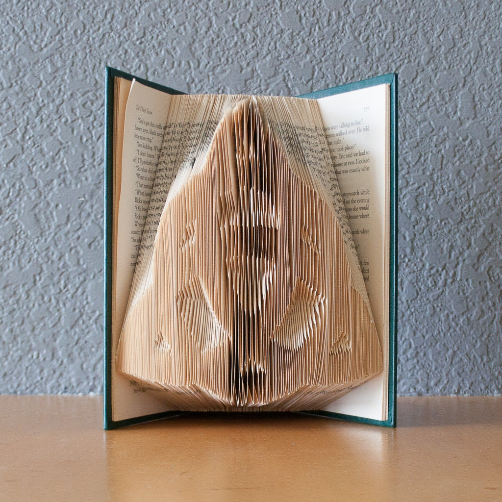 Celtic Knot Folded Book Art Book Lovers Housewarming Gift Home Decor