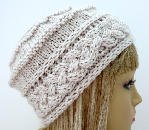 Knitting Pattern Hat Tam Beanie Worsted Weight
