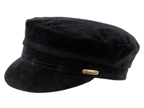 Jewish Fiddler Cap Corduroy 100 Cotton Black
