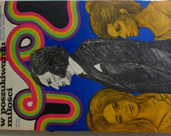 Cinemaposter. English (1971s) film Quest for Love. Polish (1974s) poster by Marian Stachurski. RARE.