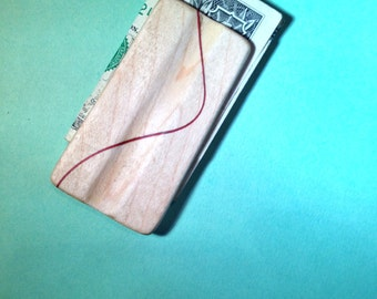 Curly Maple Money Clip