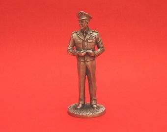 General Carl Andrew Spaatz World War II  Pewter 75mm Figurine World War 2 Allied Leader Collectible Model