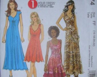 McCalls 6074Women's Easy Knit Dress Pattern Sizes 16-22