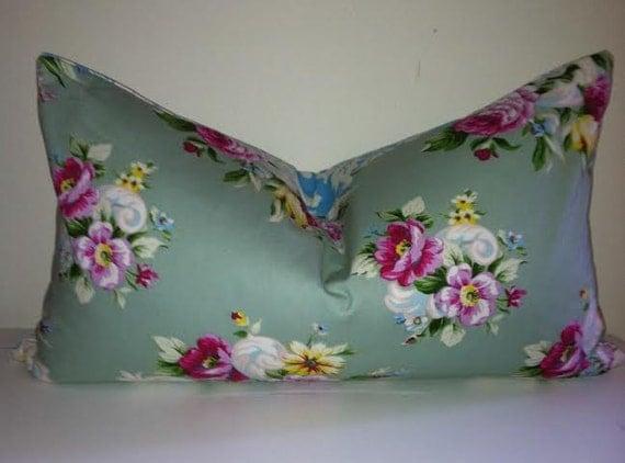 Shabby Chic Blue Pillows : Shabby chic blue purple flower pillow cover shabby chic pillow