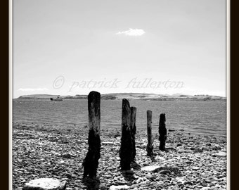 Largs ,West coast of Scotland  (monochrome)  12 x 12 limited edition Glicee print