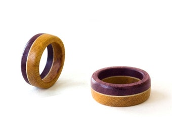 His and Her Band Set, Wooden Wedding Ring, Natural Wedding Bands, Natural Bands Set, Natural Rings, Wooden Jewelry, Natural Jewelry