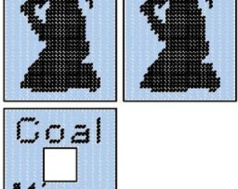 Coal Miner Plastic Canvas Tissue Box Cover Pattern