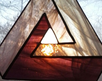 Stained Glass Endless Triangle Suncatcher