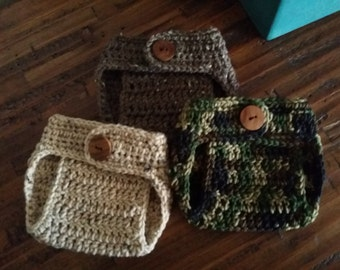 Hand crochet diaper cover, great photo prop!