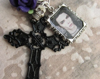 Black Veil Brides Andy Biersack Cross Necklace