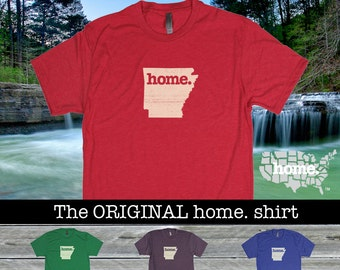 Arkansas Home. shirt- Men's/Unisex red royal purple green