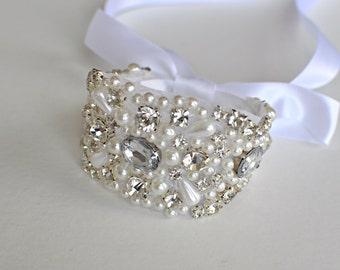 Crystal bracelet, Bridal bracelet, Bridesmaid gift, bridesmaid bracelet, Wedding bracelet