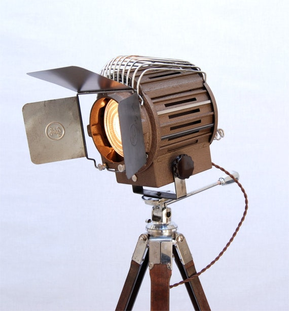 40's Vintage Theater Stage Light Spotlight Industrial