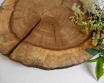 """8""""-9"""" Wood Slice, Centerpiece, Rustic Wedding Decor, Oak Wood, Wood Slab, Tee Slice, Tree Trunk Slice, Stump Slice"""