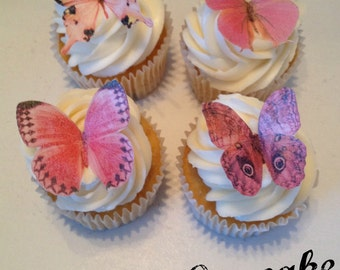 Shades of Pink Edible Butterflies