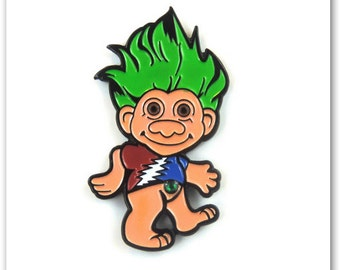 Grateful Dead Troll Green - Hat Pin