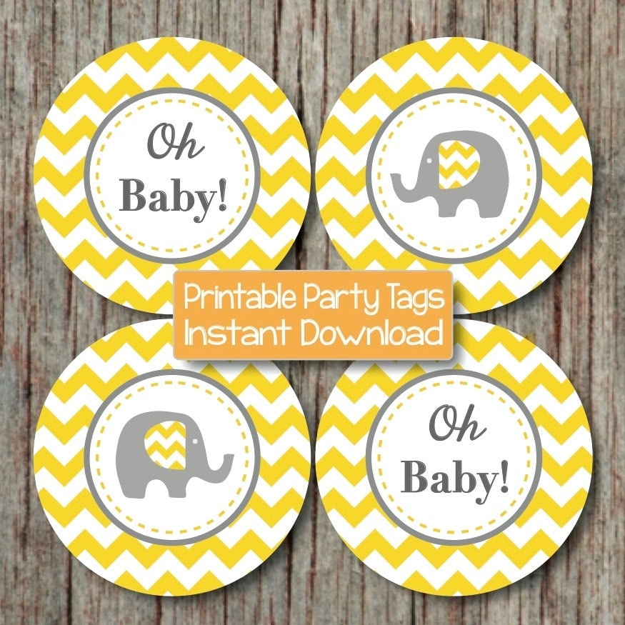 31 baby shower decorating ideas with grey and yellow theme - Baby shower chevron decorations ...