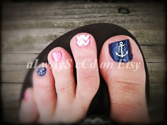 Items Similar To Anchor Toe Nail Vinyl Decal NOW 20 TOTAL On Etsy - Anchor Toe Nail Designs Graham Reid