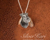 Miniature Schnauzer, necklace in sterling silver