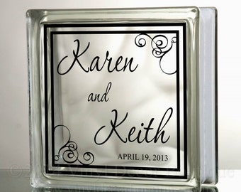 Wedding Mirror Decal Etsy - Custom vinyl decals diy
