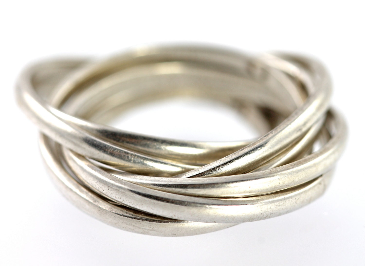 sterling silver stacking puzzle ring vintage by yourgreatfinds