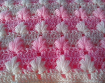 Crochet PATTERN Baby Blanket  Pattern/ puff Aloe stitch/ Tutorial Instant Download / PATTERN 141/ Permission to sell finished items.