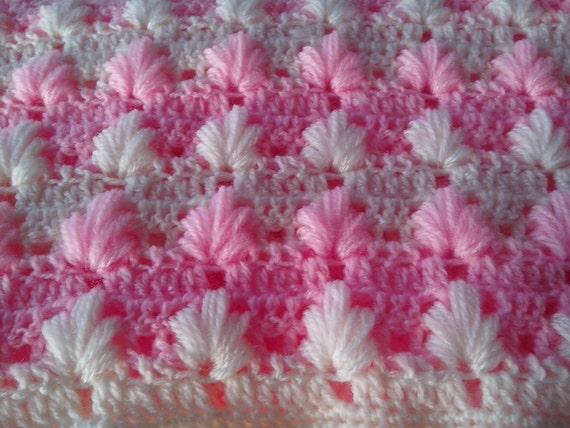 Crochet PATTERN Baby Blanket Pattern/ puff Aloe stitch/