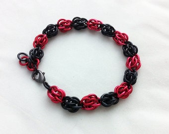 Red and Black Sweetpea Bracelet