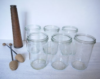 Fowler's Vacola No.31 Clear Glass Preserving Jars – Collection Of 6