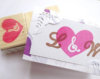 rubber stamp personalized stamp diy wedding custom stamp wedding
