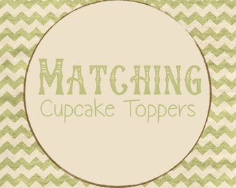 Cupcake Toppers to Match ANY Allie Logan Designs Invitations
