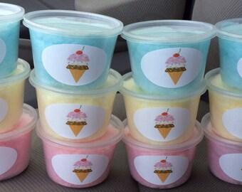 Ice cream cone cotton candy / Sunday favors