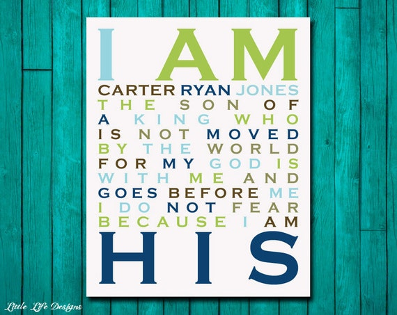I Am His Son Of A King Christian Wall Art By Littlelifedesigns