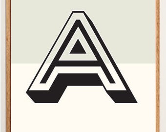 Mid-Century Modern Letter A
