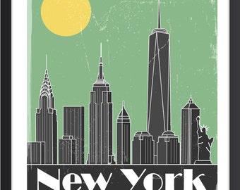New York City Skyline Poster - New York City Art - New York City Print - New York City Image-New City Skyline - New York City