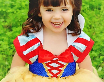 Snow White Tutu Dress-Snow white dress- Snow white Costume -Snow white Tutu