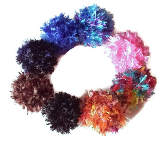 Fluffy cat ball toys set of 3 optional bell by for Fluffy cat toy