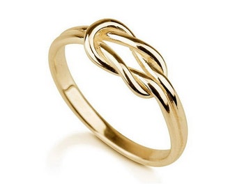 Gold Infinity Ring, Silver plated in 18k gold Infinity ring, Promise ring, Eternity Ring, Forever Ring