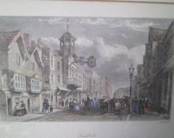 Guildeford High street looking east by C.C.Pyne 1840