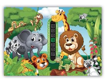 A5 Nursery & Childrens Jungle Room Thermometer