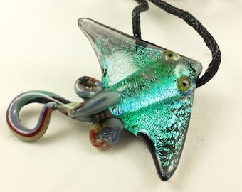 Stingray - Glass Pendant Necklace