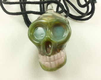 Skull - Glass Necklace