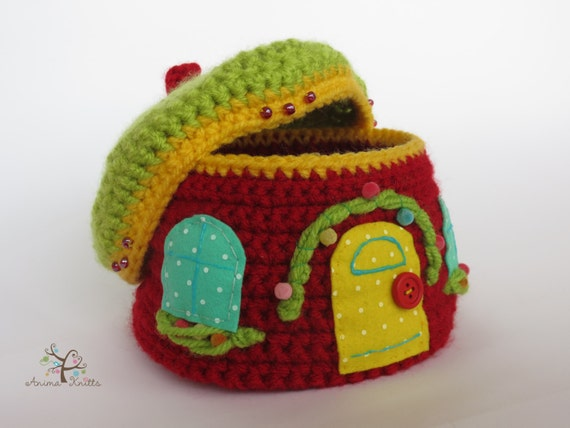 Amigurumi Doll House : Crochet Box Amigurumi pattern crochet pattern doll house
