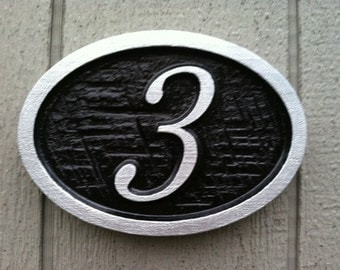 House Number Plaque - Custom Numbers for Home - Carved Signs